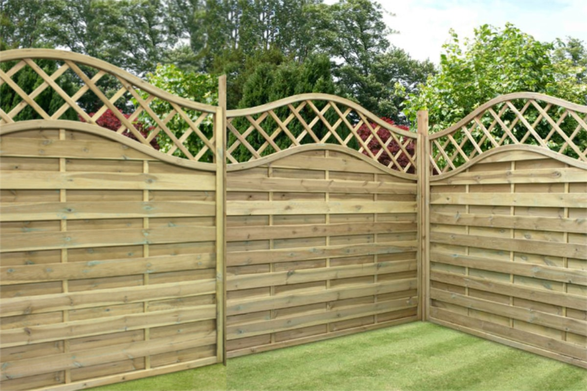 cheap wood garden fence