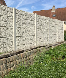 concrete fence panel with structure