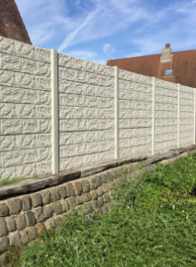 concrete fence panels with textures