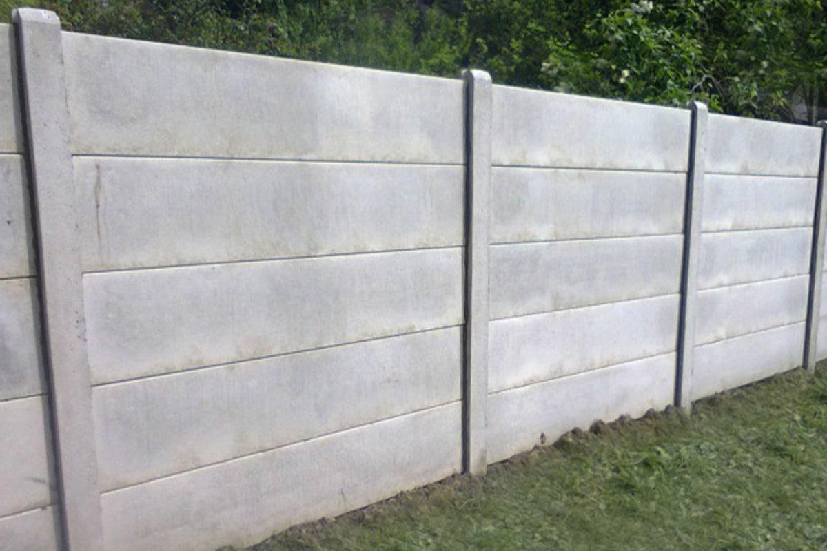 concrete fence slabs grey