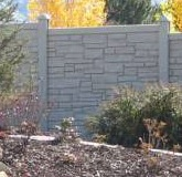 fence concrete look