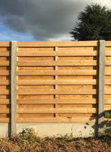 fence concrete wood