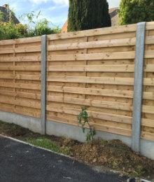 fence panel wood concrete