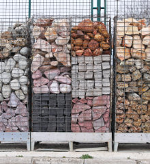 gabion baskets filling