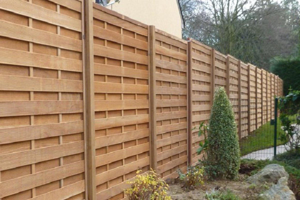 high fence in wood