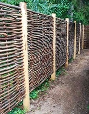 willow fence panels