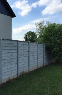 wood fence with panels